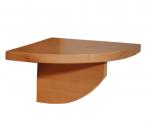 Noční stolek závěsný - půlkruh